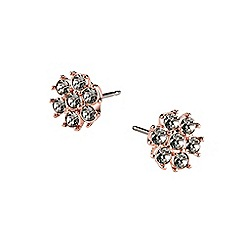 Guess - Rose gold flower studs