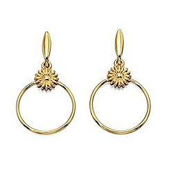 Fiorelli - Gold plate flower hoop earrings