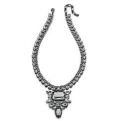 Fiorelli - Grey statement necklace with crystal cluster