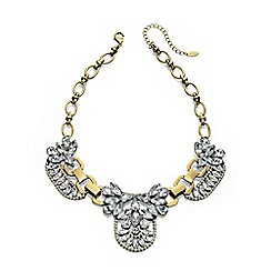 Fiorelli - Gold plated bib necklace with crystal clusters