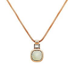 Finesse - Rose gold plated opal cushion pendant