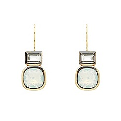 Finesse - Rose gold plated opal cushion hook earrings