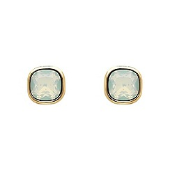 Finesse - Rose gold plated opal cushion stud earrings