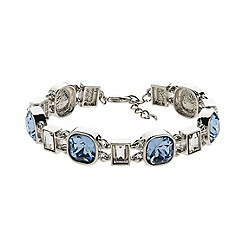 Finesse - Rhodium plated sapphire link bracelet