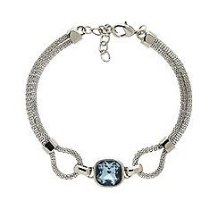 Finesse - Rhodium plated sapphire mesh bracelet