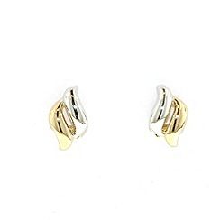 Finesse - Gold & rhodium plated diamond clip earrings