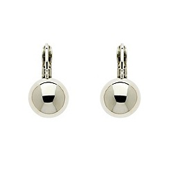 Finesse - Rhodium ball leverback earrings