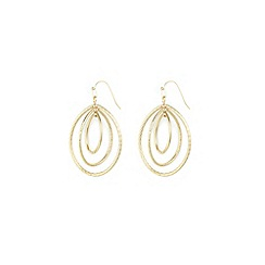 Anne Klein - Gold small oval hoop earrings