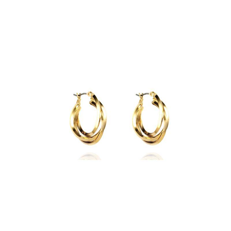 Anne Klein Gold three ring hoop earrings