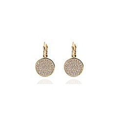 Anne Klein - Gold pave and crystal drop earrings