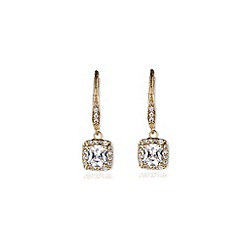 Anne Klein - Gold crystal chandelier drop earrings