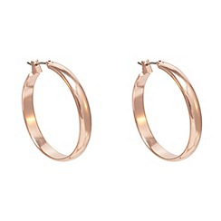 Anne Klein - Rose gold wide flat hoop earrings