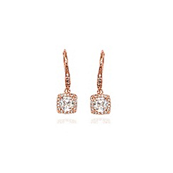 Anne Klein - Rose gold crystal chandelier drop earrings