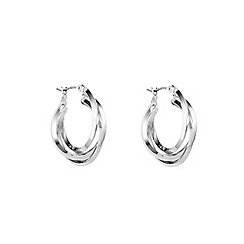 Anne Klein - Silver three ring hoop earrings