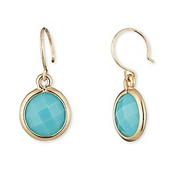 Anne Klein - Gold and turquoise drop earrings