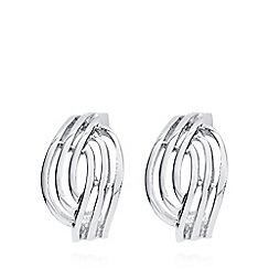 Anne Klein - Silver open weave clip on earrings