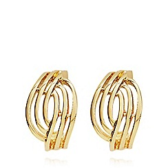 Anne Klein - Gold open weave clip on earrings