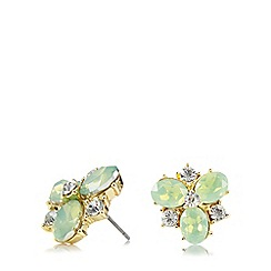 Anne Klein - Gold tone cluster stud earrings