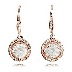Anne Klein - Rose gold eurowire earrings
