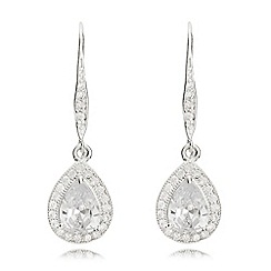 Anne Klein - Silver pear eurowire earrings