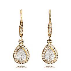 Anne Klein - Gold pear eurowire earrings