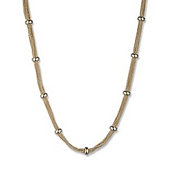 Anne Klein - Gold mesh strand necklace