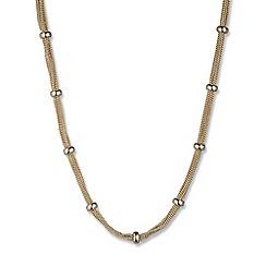 Anne Klein - Gold mesh strand necklace