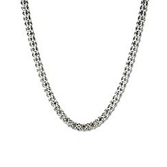 Anne Klein - Silver and crystal tubular pave collar necklace
