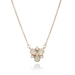 Anne Klein - Multi cluster rose gold and white necklace with pendant