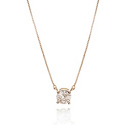 Anne Klein - Rose gold tone necklace with fireball pendant