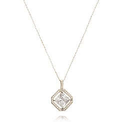 Anne Klein - Silver tone necklace with princess pendant