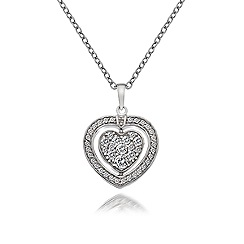 Hot Diamonds - Silver 'Quattro' black white CZ pendant