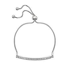 Hot Diamonds - Crystal rhodium silver plated CZ bracelet
