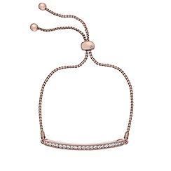 Hot Diamonds - Crystal rose gold plated CZ bracelet
