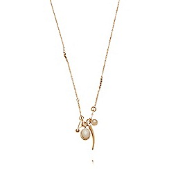 Pilgrim - Rose gold plated charms necklace