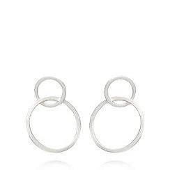 Pilgrim - Silver ring earrings