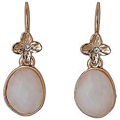 Pilgrim - White precious stone earrings