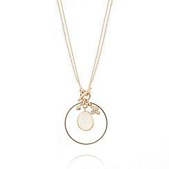 Pilgrim - Silver bezel set jade pendant necklace