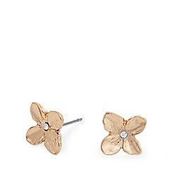 Pilgrim - Rose gold flower crystal earrings