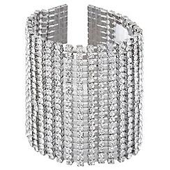 No. 1 Jenny Packham - Silver twenty row diamante bracelet