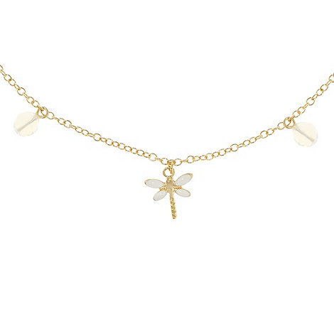 Finesse - Gold dragonfly charm necklace