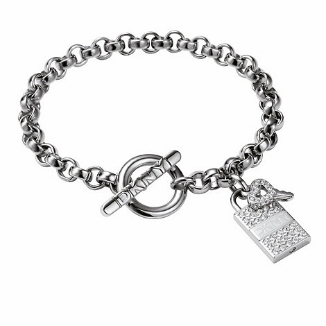 DKNY - Silver coloured lock & key bracelet