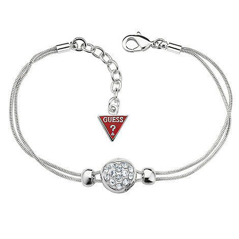 Guess - Silver diamante heart bracelet