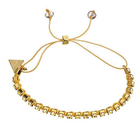Guess - Gold stone embellished cord bracelet