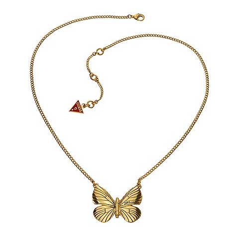 Guess - Gold hinge butterfly necklace