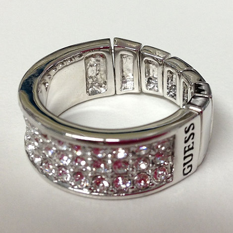 Guess - Silver pave band stretch ring