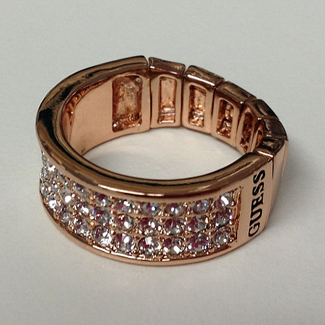 Guess - Rose pave band stretch ring