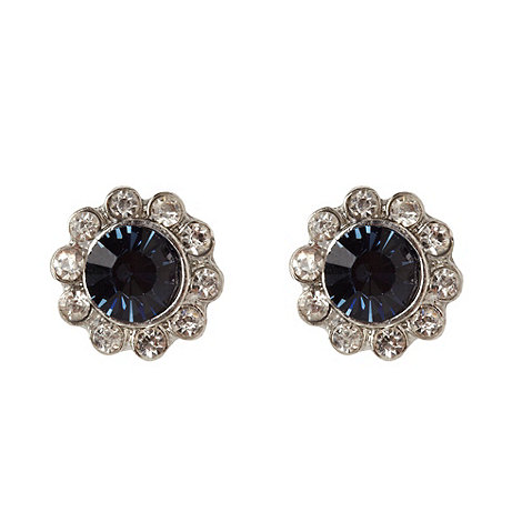 Martine Wester - Light sapphire paved stone border earrings