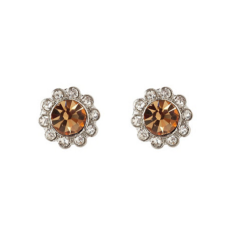 Martine Wester - Light gold paved stone border earrings