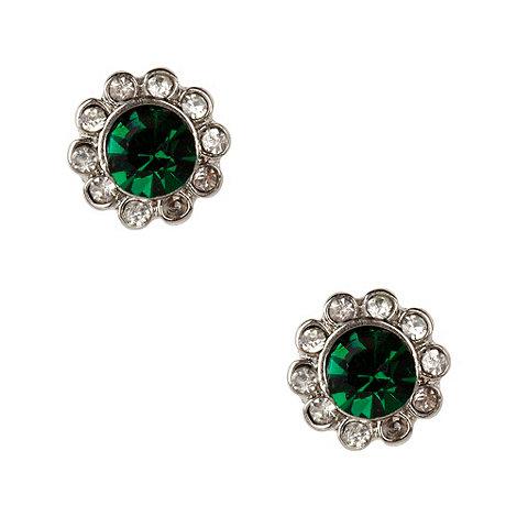 Martine Wester - Dark green paved stone border earrings